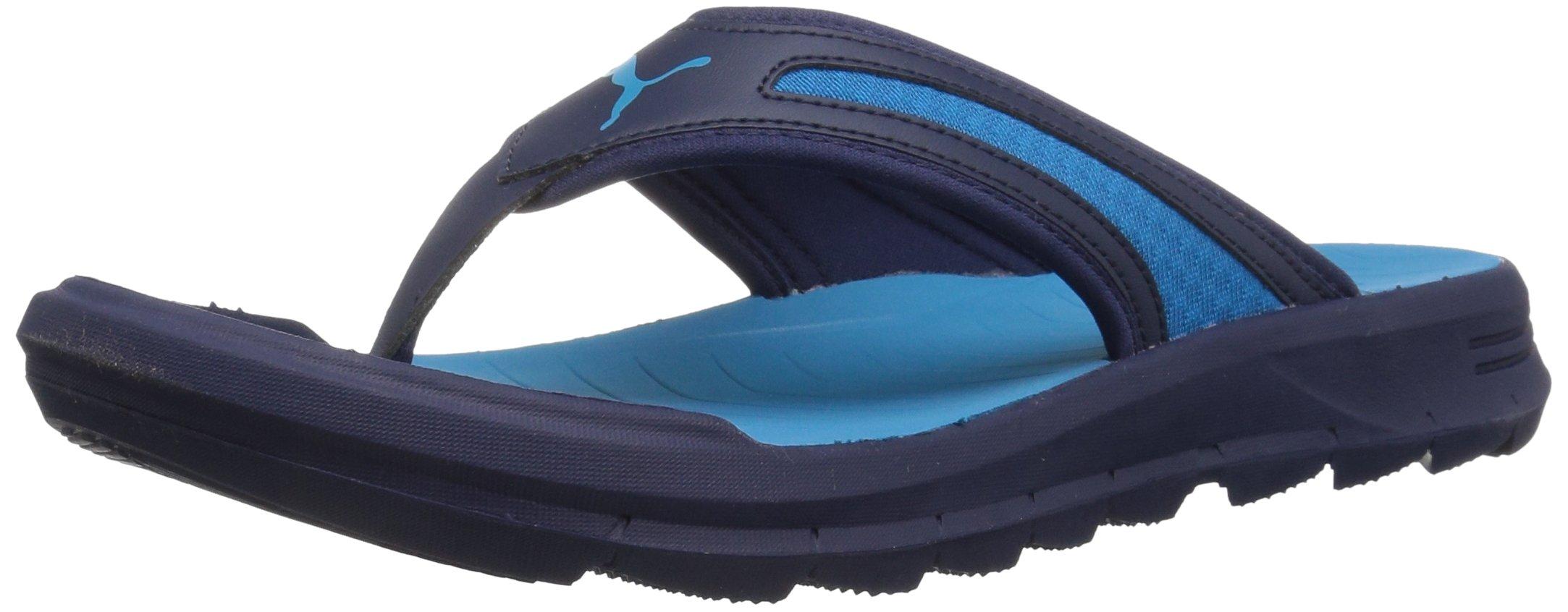 PUMA Men's Wild Flip Athletic Sandal, Peacoat-Blue Danube, 12 M US