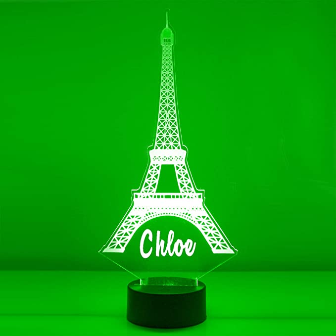 Select Gifts Paris Eiffel Tower Engraved Keepsake Message Box
