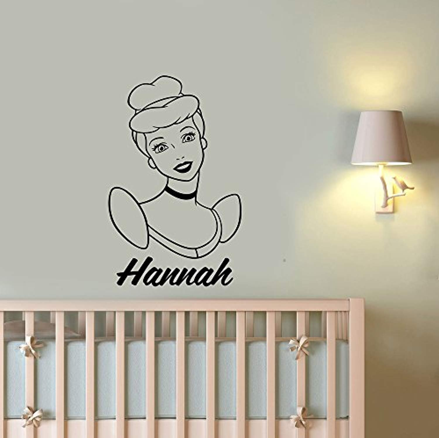 A Good Decals USA Personalized Name Cinderella Wall Decal Custom Sticker Disney Princess Vinyl Art Decorations for Home Kids Girls Room Bedroom Nursery Decor cind2 by A Good Decals USA