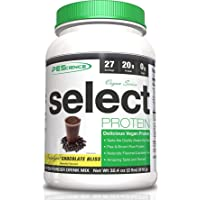 PEScience Select Vegan Plant Based Protein Powder, Vanilla, 27 Serving, Pea and Brown Rice Blend