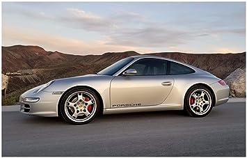 Amazon com: Door Decals Compatible with Porsche (Black) 30