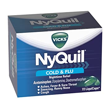 amazon com vicks nyquil cold and flu relief liquicaps 72 count