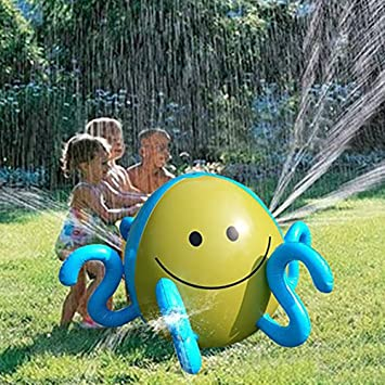 Pelota de agua inflable para niños con 4 boquillas de agua para verano, juguetes divertidos para jardín, piscina, playa, juegos de agua: Amazon.es: Bricolaje y herramientas