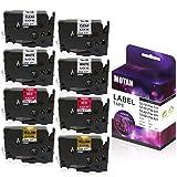 Motan Ptouch Compatible for Brother Color TZe-231 TZe-131 TZe-431 TZe-631 Tape 26.2 Feet (8m) 12mm 0.47 Inch Laminat Label Tape for P-Touch Label Maker PT-D210 PT-D400 D600 PT-H100 PT-1230PC, 8-Pack