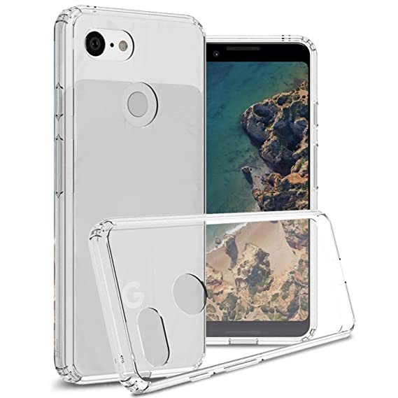 online store 382ff 3d839 Google Pixel 3 Case Clear Slim Fit Hard Phone Cover with TPU Shock  Absorbing Grip Bumpers for The Google Pixel 3 - ClearGuard Series by  CoverON - ...