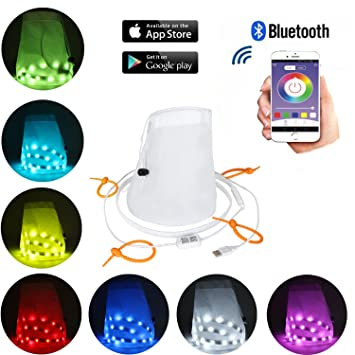 Amazon bluetooth led strip lights semlos app controlled smart bluetooth led strip lights semlos app controlled smart waterproof led string lights for iphone aloadofball Image collections