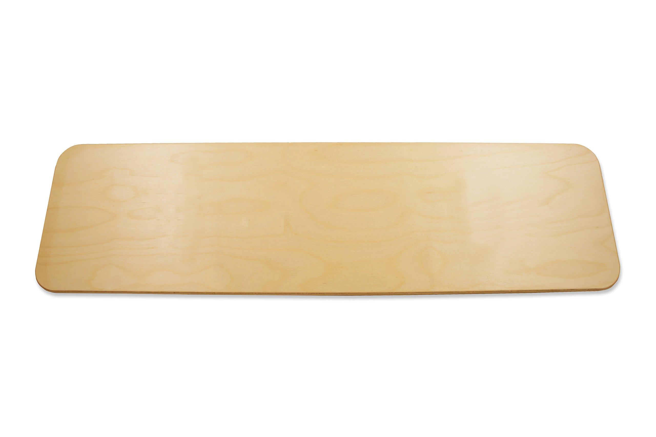 "Rehabilitation Advantage Durable Birch Wood Transfer Board, 3/8"" Thick x 26"" Long x 8"" Wide"
