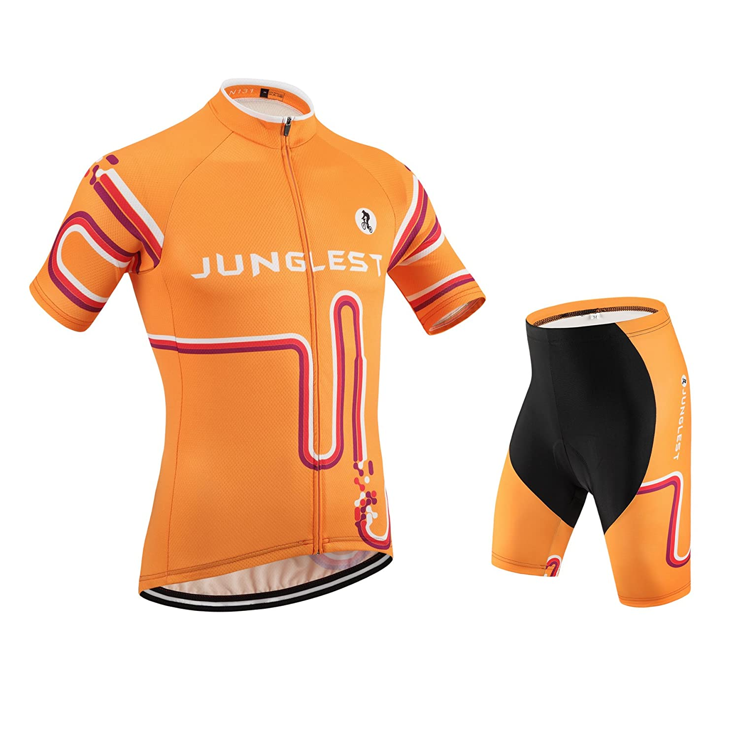 Cycling Jersey Set Wen半袖( S ~ 5 X L、オプション:よだれかけ、3dパッド) n131 B01BSZGED2 (General pad)(Chest 50-53inchs)|種類: セット 種類: セット (General pad)(Chest 50-53inchs)