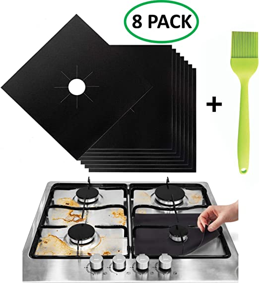 Stove Burner Covers - Gas Range Protectors Countertop Accessories for  Kitchen Reusable, Non Stick, Dishwasher Safe, Heat Resistant Stovetop Guard  8 ...