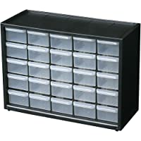 Flambeau 6576NA Parts Storage Drawer, Hardware and Craft Cabinet with 25 Drawers