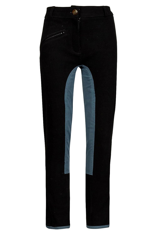 Inconnu MS de Costumes Fille Pantalon d/équitation Noir Garniture Gris