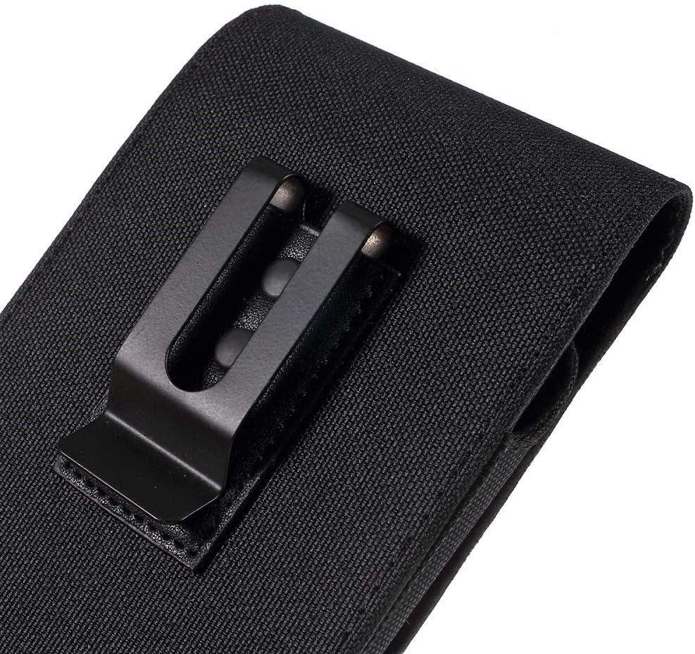 DFV mobile - Nuevo Diseño Funda Cinturón Clip Metálico Vertical Textil y Piel para WOLDER WIAM #23: Amazon.es: Electrónica