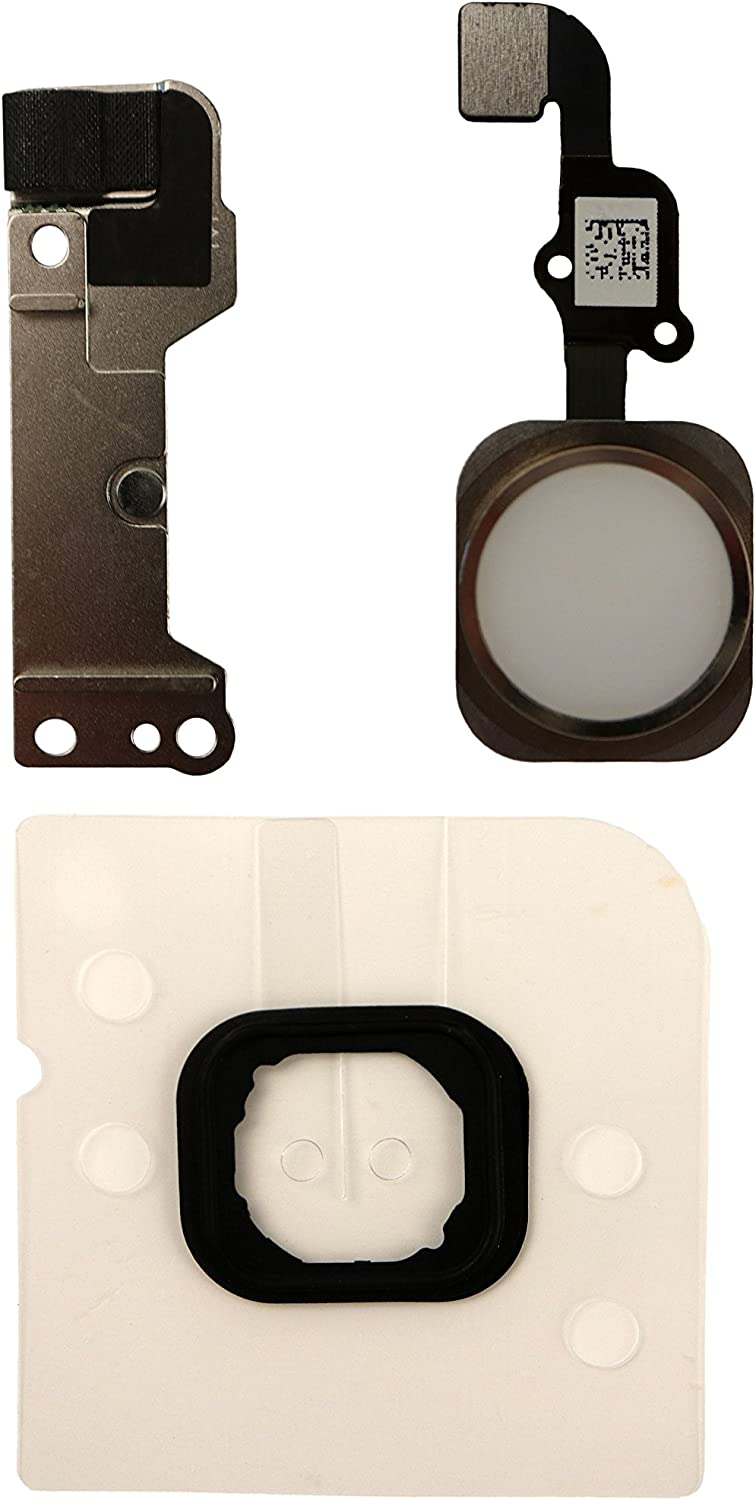 COHK Home Button Key Flex Cable Assembly with Rubber Ring Replacment Part for iPhone 6 and 6 Plus (Gold)