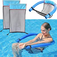 The Dreidel Company Pool Noodle Floating Mesh Chair for Floating Pool Noodle, Pool Noodle Not Included, Only Swimming Net Lounge Chair Seat, Great for Water Relaxation