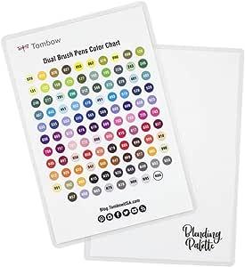 Tombow Blending Palette + Color Chart, White,