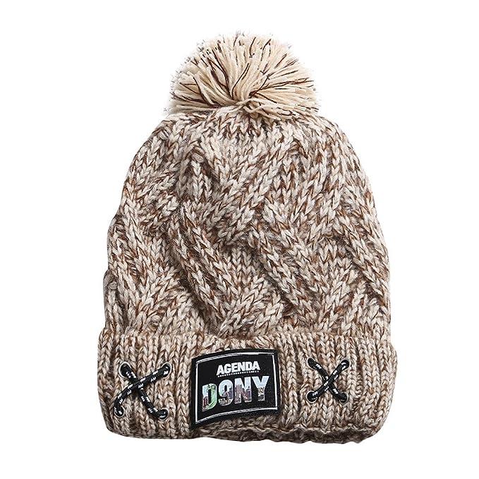 Kobay Berretto da Donna Caldo da Uomo in Lana Confortevole Beanie Caldo da  Sci Cappello Invernale da Sci Pom Pom  Amazon.it  Abbigliamento 589eca72cdd7