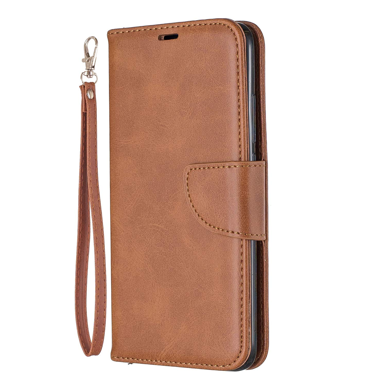 Lomogo Xiaomi Redmi 7 / Y3 Case Leather Wallet Case with Kickstand Card Holder Shockproof Flip Case Cover for Xiaomi Redmi7 / Redmi Y3 - LOBFE150648 Brown