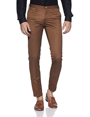 dc5323a27c8 blackberrys Men s Slim Fit Formal Trousers (DLPM0795C1IA18F130 Rust 30)