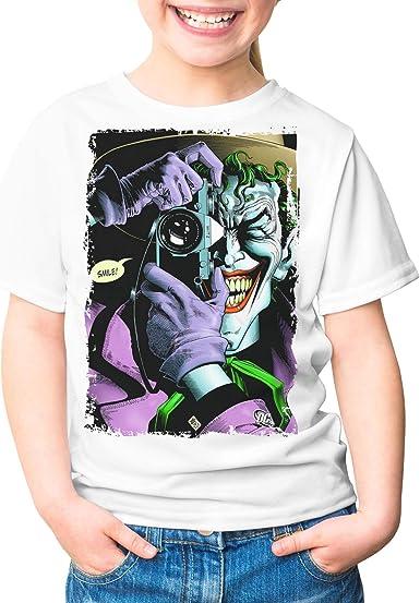 Camiseta Niña - Unisex Superhéroe y Villano, Batman y Joker: Amazon.es: Ropa y accesorios