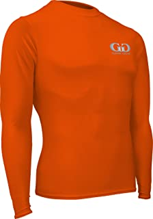 product image for Game Gear HT-603L-CB Men's and Women's Athletic Compression, Long Sleeve Crew Neck Shirt-Used for Running, Softball, Football, Cross Training, and Gym Workouts (XX-Large, Orange)