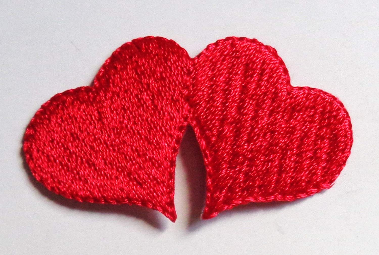 Amazon iron on patch applique double heart arts crafts