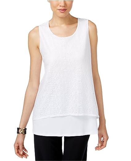 38fc0b88fded0 Amazon.com  Alfani Prima Women s Layered-Look Textured Top (X-Small ...