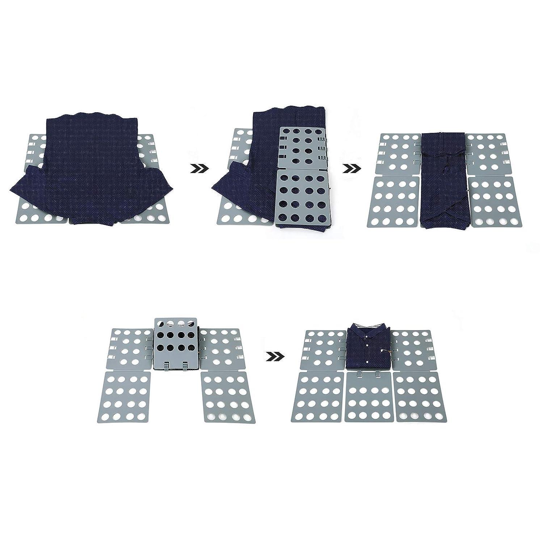 SONGMICS Tabla para Doblar Adulto Vestidos Pantalones Camisas Doblador de Ropa Plegable Gris LCF004: Amazon.es: Hogar