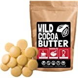 Raw Cocoa Butter Wafers From Organically Grown Cacao Beans, Unrefined, Non-Deodorized, Food Grade, Fresh For Recipes, Cooking, Smoothies, Coffee, Skincare, Haircare (16 ounce)
