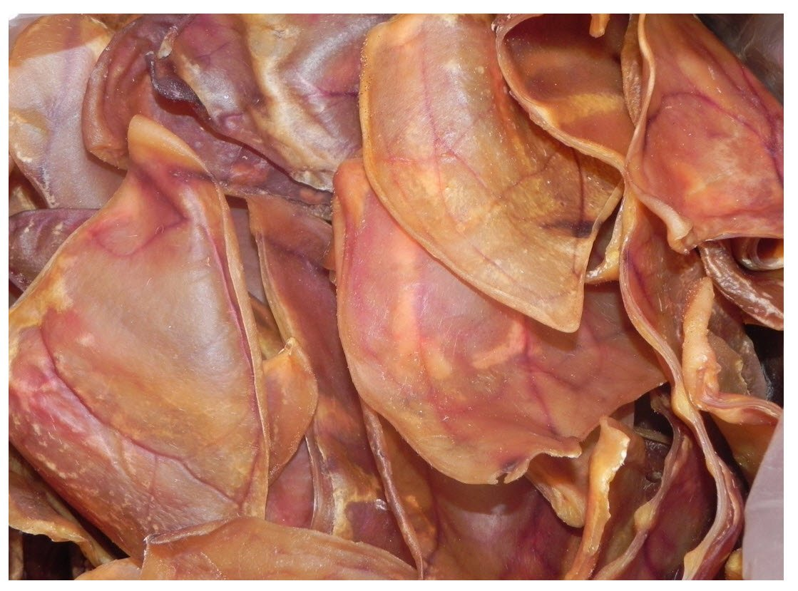 Monster Smoked Pig Ears. XL Size (200-Pack)
