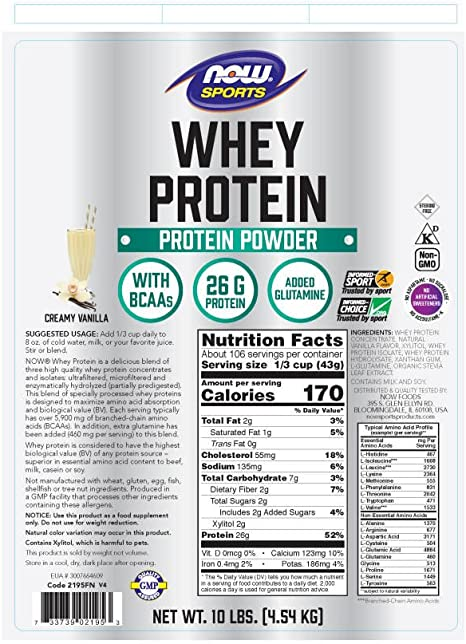 Whey Protein Vanilla (Mega Pack) 10 lbs