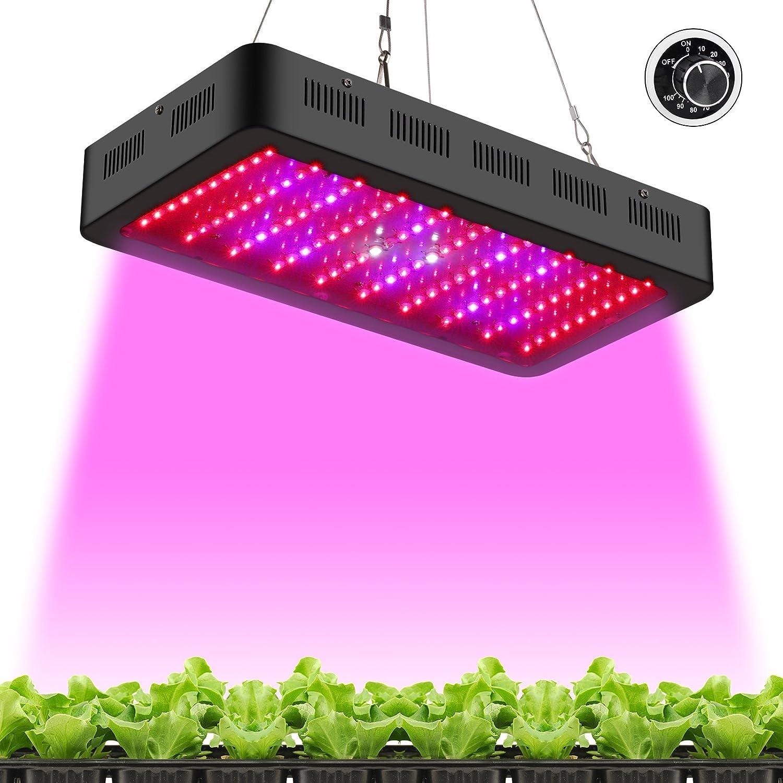 TOPLANET 1500W Led Pflanzenlampe Grow Light Full Spectrum 1900k 3-5 Times HPS für Innen Gewächshaus Grow Box Gemüse Kraut Blume Wachsen Yougelai