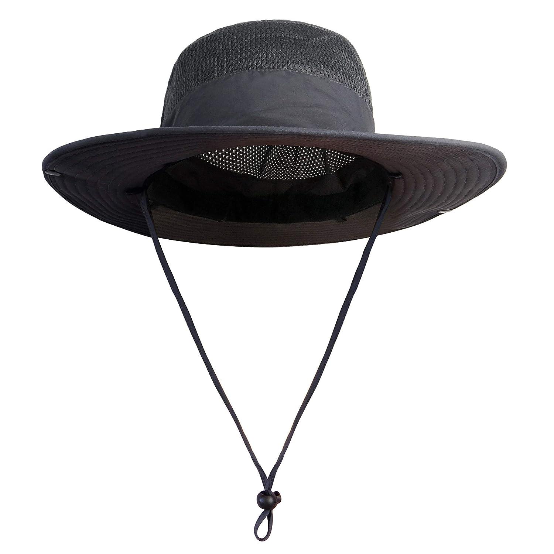 614c23d7f96 Traveler s Pal Sonnenhut für Damen und Herren - Einstellbarer Fischerhut  mit Lüftungsnetz - Anglerhut mit großer