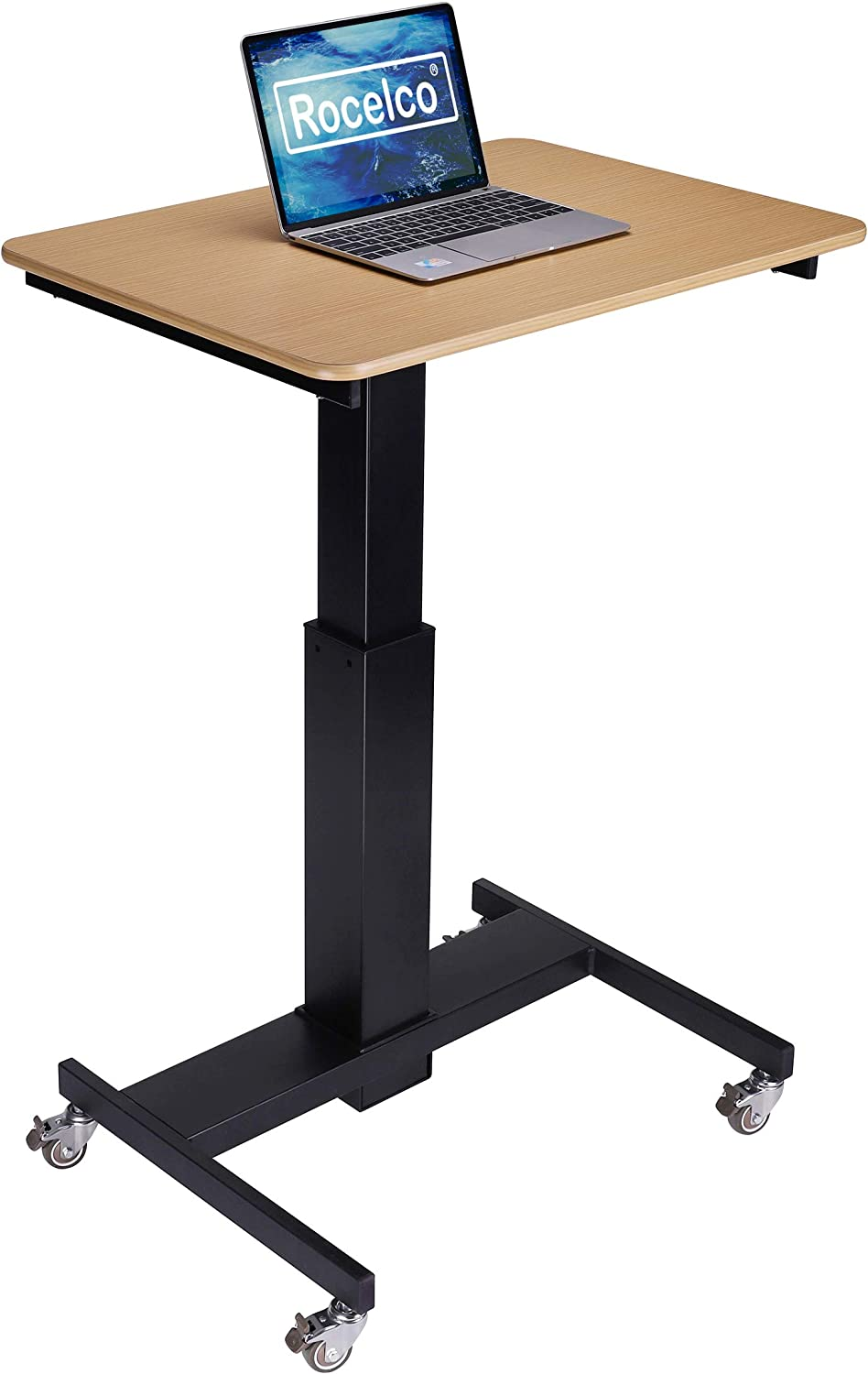 """Rocelco 28"""" Height Adjustable Mobile School Standing Desk 