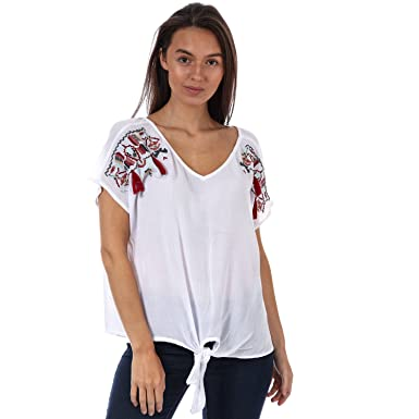 09a22380bb9 Brave Soul Womens Lena Embroidered Oversized T-Shirt in Cream: Brave Soul:  Amazon.co.uk: Clothing
