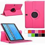 COOVY® Cover for Samsung Galaxy TAB PRO 10.1 SM-T520 SM-T525 ROTATING 360° DEGREE SMART CASE STAND HOUSING PROTECTION | Color hotpink