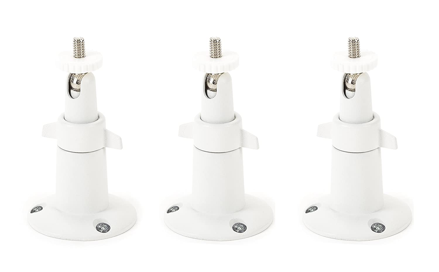 Adjustable Indoor/Outdoor Security Wall Mount for Arlo Pro, Arlo Pro 2, Arlo Ultra, and Other Compatible Models - Extra Flexibility for Your Arlo Camera (3-Pack, White)