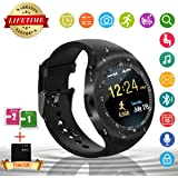 Bluetooth Smart Watch Touch Screen Smartwatch With Sim Card Slot Waterproof Unlocked Watch Cell Phones Smart Wrist Watch Fitness Tracker For Android Samsung IOS Apple Iphone 7 8 X Sony Men Women Kids