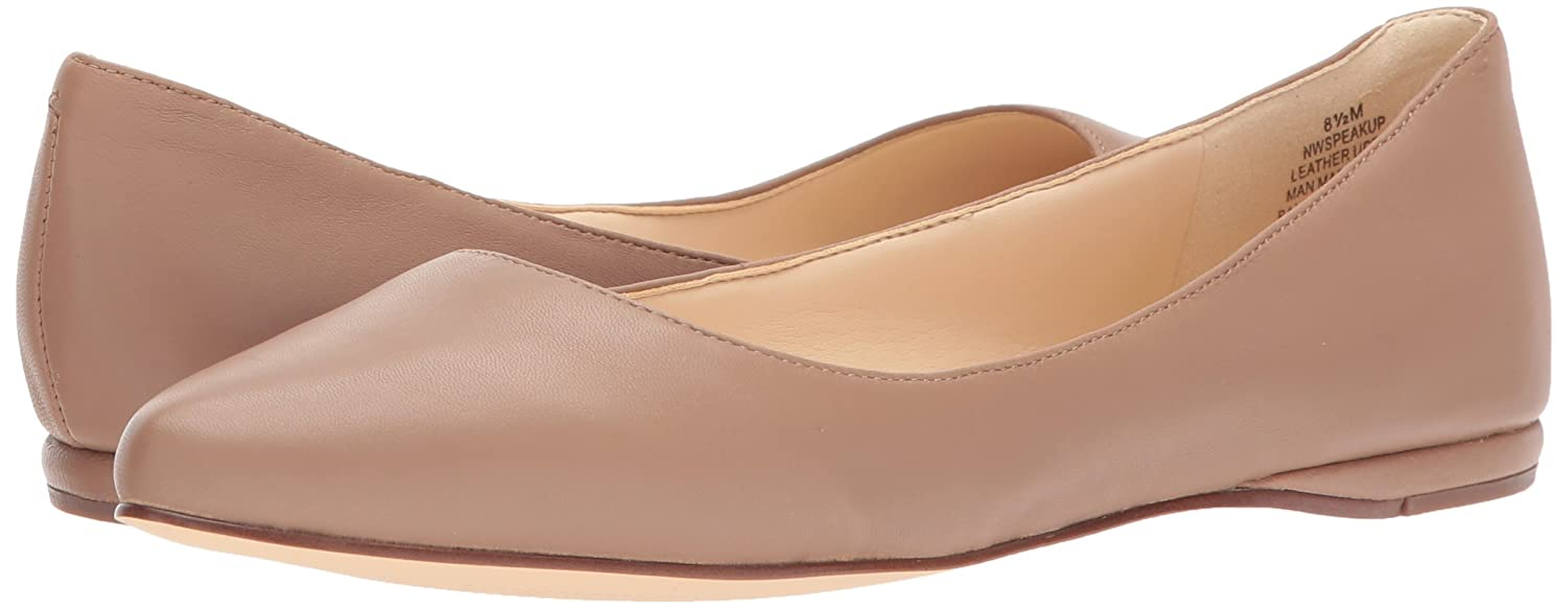 Nine West Women's Speakup Leather Pointed Toe Flat B071DZT4V4 Leather 11 B(M) US|Dark Natural Leather B071DZT4V4 d55eb7