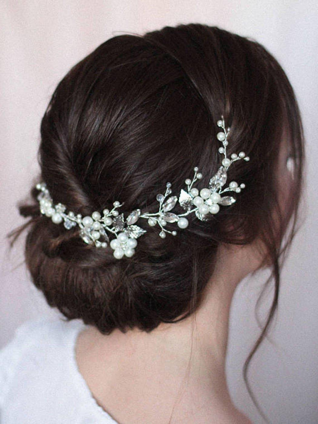 Jovono matrimonio sposa con testa accessori capelli viti per donne e ragazze