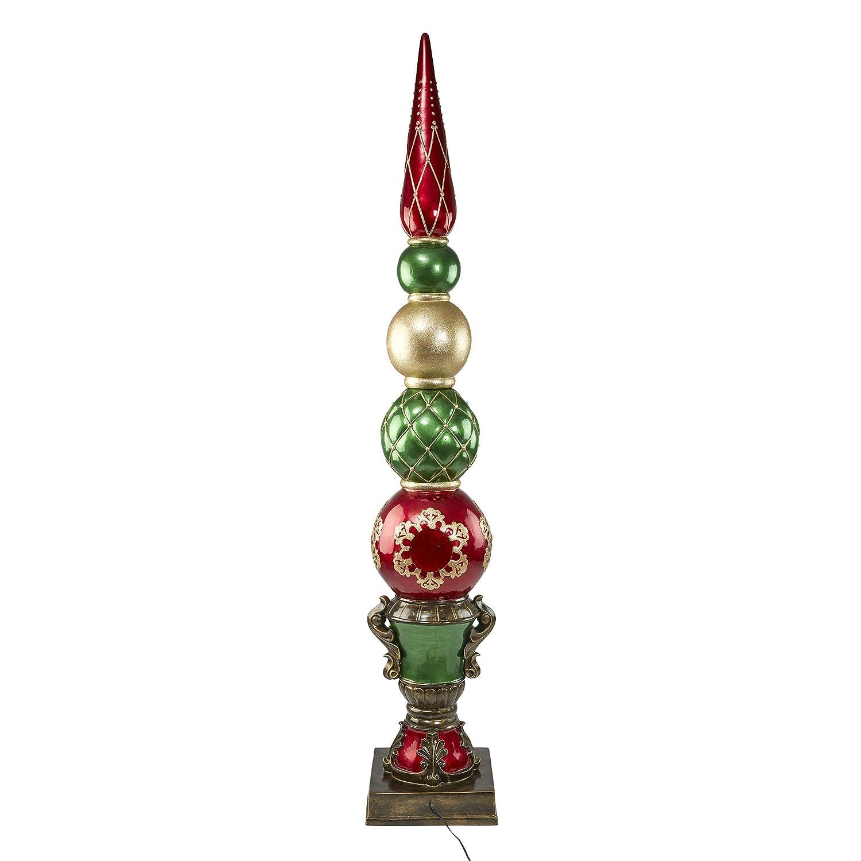 Amazon.com : Design Toscano LED Christmas Ornaments - 6 Foot Tall ...
