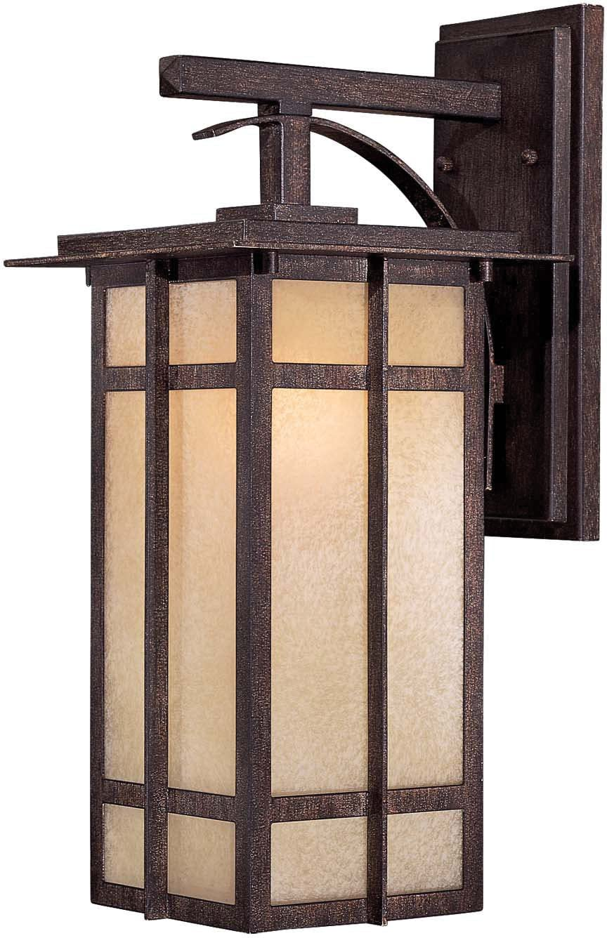 Minka Lavery Outdoor Wall Light 71192-357-PL Delancy Exterior Wall Lantern, 13 Watts Fluorescent, Iron