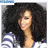 """ATOZWIG Kinky Curly Afro Wig 22"""" Long Kinky Curly Wigs for Black Women Black Hair Wig African American Synthetic Cheap Wigs for Women"""