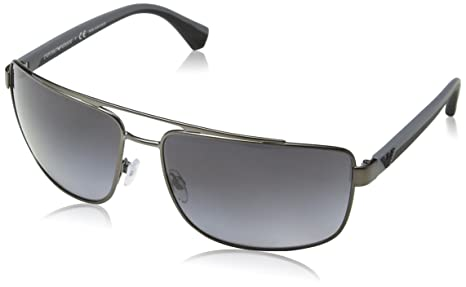 379680d707f Image Unavailable. Image not available for. Colour  Emporio Armani Men s  Polarized EA2018-3003T3-64 Gunmetal Aviator Sunglasses