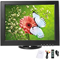 YaeCCC 12 inch LCD Security Monitor 800x600 Resolution Screen with VGA/AV/HDMI/TV Input Display for Surveillance Camera CCTV