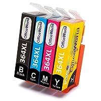 OfficeWorld Reemplazo para HP 364 364XL Cartuchos de tinta Alta Capacidad para HP Photosmart 5520 5510 5522 5524 6520 7510 7520, HP OfficeJet 4620, HP Deskjet 3070A