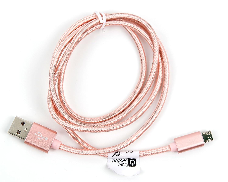Duragadget Câble de synchronisation 3m pour liseuse Pocketbook Touch Lux, Aqua, Sense et Touch HD, TrekStor Pyrus 2 et Pyrus Mini - Noir et Gris