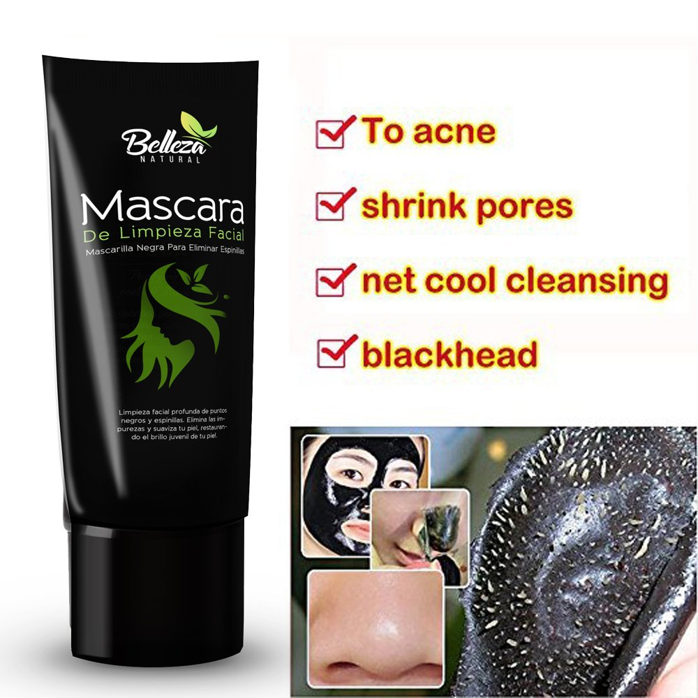 Amazon.com : Mascara De Limpieza Facial Profunda Para Eliminar Espinillas - Mascarilla Negra De Purificacion Facial - Mascara De Barro Para La Cara : Beauty