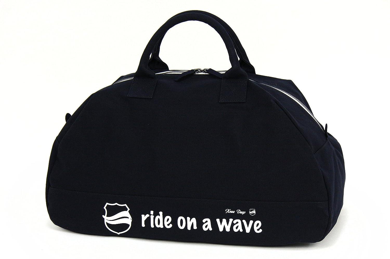 ボストンバッグ ラウンド型 キャンバス地 メッセージロゴプリント kd-bag-06   B07DDCVJVK