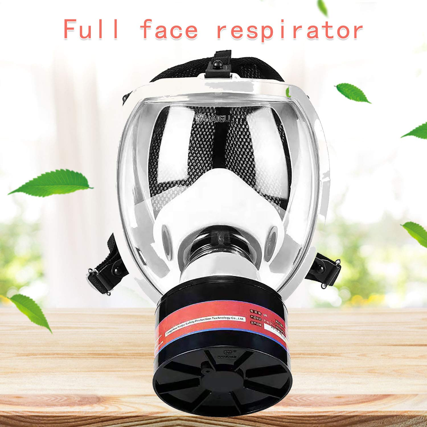 Phoenixfly99 Full Face Organic Vapor Respirator Manufacturer Warranty ASTM Safety Mask N95 Activated Charcoal Air filter Eye Protection For Vapor Organic Painting Cleaning Welding (9000 safety mask)