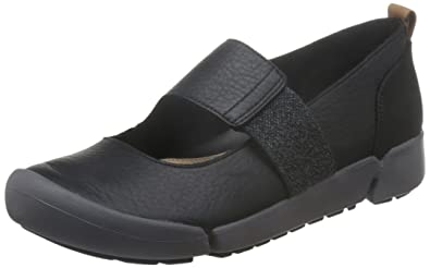 Clarks »Leder« Sneaker, schwarz, schwarz